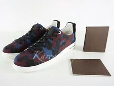 NEW AUTH LOUIS VUITTON FRONT ROW MEN CAMO CAMOUFLAGE SNEAKERS LV 8 / 9 US
