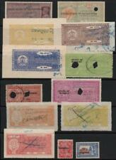 INDIAN STATES: Used Revenue Stamps - Ex-Old Time Collection - Album Page (33340)
