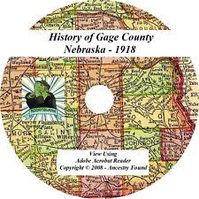 1918 History & Genealogy of GAGE County Nebraska NE