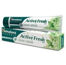 5 X Himalaya Herbals Active Fresh Gel 80gm Toothpaste with Miswak Clove 5 Tubes
