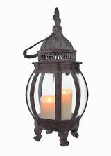 Candle Lantern - Metal Hanging Candle Lantern, French Lily