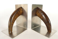 A pair of rare and extraordinary Carl Aubock (Auböck)  Bookends. Book Ends