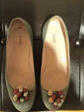 AUTHENTIC MARC JACOBS CANVAS FLATS WITH FRONT BROOCH  , SIZE 37