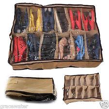 12Pair Beige Shoe Box Under Bed Organiser Cabinet Storage Shoe Fabric Bag CQ1039
