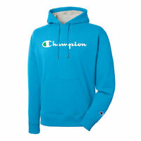 Champion Men's Powerblend Pullover Hoodie, Script Logo New Colors