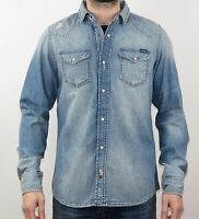 DIESEL Men NEW SONORA-CAMICIA 00SD24-0PAEZ-01 - blau - Denim +NEU+
