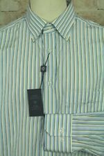 PAL ZILERI DESIGNER LUXURY MEN'S STRIPED DRESS SHIRT SIZE 41/16 NEW WITH TAGS!