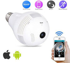Home Security IP Camera Wireless 960P Wifi 360° Fisheye Panoramic Network LED