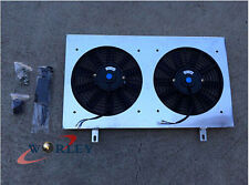 Aluminum Fan Shroud + 2 pcs 12'' 12V Fans for Nissan Skyline R32 GTS GTR RB20DET