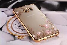 IPhone, Samsung, Xperia, Motorola Case-a Prueba de Choques TPU cubierta de silicona Clara BLING