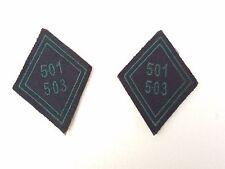 2 Patch Ecusson  scratch INSIGNE FRANCE 501 & 503 Régiment de Char MOURMELON