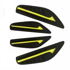 4 x Black Rubber Door Boot Guard Protectors YELLOW Insert (DG2) MC17/10