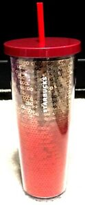 Starbucks Holiday Sequin Tumbler- 2018 rose gold/ Red Holiday Sequin Tumbler24oz