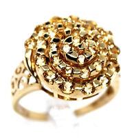 ORANGE  CITRINE 10KT Yellow Gold RING 1.47ctw Round Citrine Cluster Size 8 NEW!