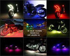 18 Color Change Led Tracer 900 Motorcycle 8pc Led Neon Pod Light Kit