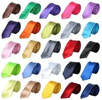New Mens Satin High Quality Plain Party Wedding Tie Necktie UK - ALL COLOUR