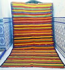 "Old Moroccan Kilim Rug Vintage Handmade Wool Rug Tribal Carpet azilal 10'2 x5'5"""
