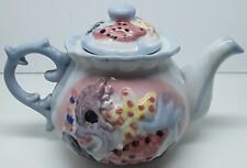 VINTAGE HAND PAINTED SEA SHELL TEA POT