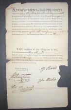 1793 GOSHEN NEW YORK SIGNED DOCUMENT $2,000 BOND ASA STEWARD JOHN STEWARD Money