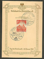 Germany Third Reich 1941 Stamp Day Commemorative Card