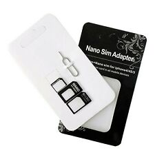 Maeline SIM Card Adapter Nano Micro Standard 4 in 1 Converter Kit with Steel ...