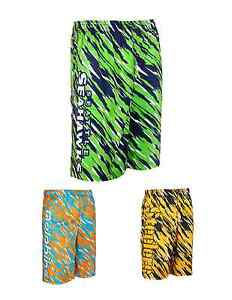 NFL Football Team Logo Polyester Repeat Print Training Shorts - Pick Your Team!