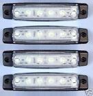 4x 12V LED AVANT BLANC CLAIR FEUX DE POSITION ECLAIRAGE CAMION REMORQUE BUS VAN