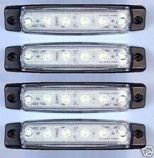 4x 24V LED ANTERIORE BIANCO TRASPARENTE LATO LUCE LUCI DI INGOMBRO CAMION