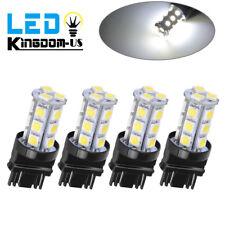 4x Pure White 3157 5050 3156 18SMD Tail Brake/Parking Turn Signal LED Light Bulb