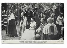 Tuck's  Postcard. Coronation Day Postcard. 1953. The Scene in Westminster Abbey.