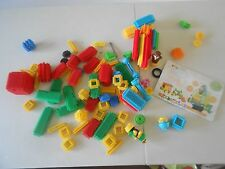 Baby Genius Krinkles Building Set, 100 pieces, vintage bristle blocks