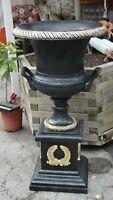 Große Vase Amphore Säule Dekovase Pokal Groß Exklusiv Möbel Bodenvase Design 128