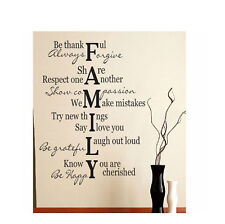 "FAMILY Verse Quote Vinyl Art Wall Decal Lettering Words Sticker Saying 17"" x 30"""