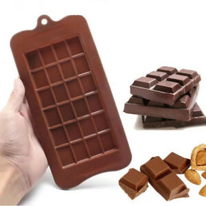 Square Chocolate Mould Bar Block Ice Silicone Cake Sugar Bake Mold Tray