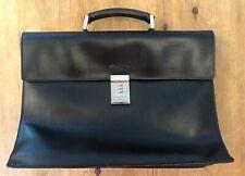 PRADA Men's Business Document Hand bag Briefcase Black leather - Used