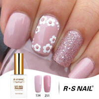 RS Nail Gel Nail Polish UV LED Varnish Soak Off Pink Glitter Colour 134+251 30ml