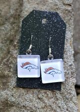 Denver Broncos Earrings Broncos Football Jewelry NFL Football Earrings Elway