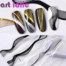 2 Sheets 3D Solid Metal Design Nail Art Stickers for Manicure Bronzing Decals