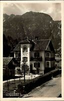 Garmisch-Partenkirchen Echtfoto-AK ~1935 Pension PISCHL alte Postkarte Bayern