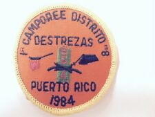 BSA PUERTO RICO 1ER CAMPOREE DISTRITO 8 PATCH- VINTAGE 1984 - FREE SHIPPING