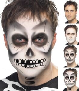 Skeleton Make Up Kit FX Ghost Face Paint Halloween Fancy Dress Makeup New