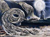 William Blake Art: The Lovers Whirlwind Dante Divine Comedy Real Canvas Print