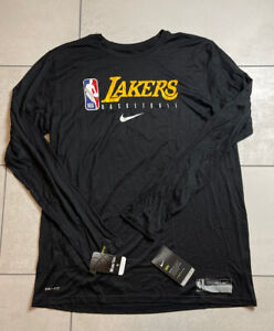 Nike NBA Los Angeles Lakers Player Issued Shooting Warm Up Shirt Size XLT Black