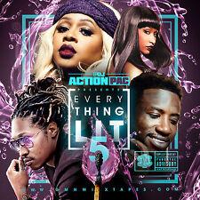 DJ ACTION PAC - EVERYTHING LIT 5 (MIX CD) REMY MA, NICKI MINAJ, GUCCI MANE, FAB