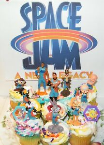 Space Jam A New Legacy Movie Deluxe Cake Toppers Cupcake Decorations Set of 12