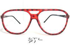 Vtg 80s AERIDIAN FELIX Aviator Driving Sun Eyeglass Frame C4160 Amber (LTL-71)