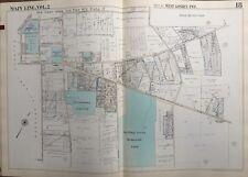 ORIG 1950 MAIN LINE, CHESTER CO. PA, W. GOSHEN TWP GREENMOUNT CEMETERY ATLAS MAP