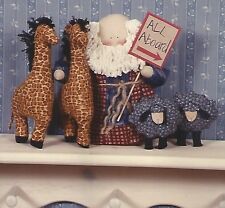 "-Pattern To Make 9"" Noah Doll w/ 9"" Giraffes & 5"" Sheep- Uncut"
