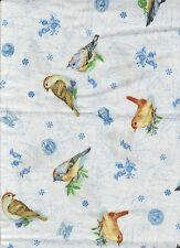 1 yd  birds quilt cotton fabric birds bird 100% Cotton sewing novelity