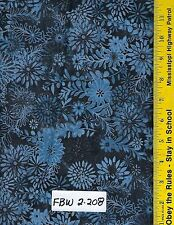 "FBW 2-208 108"" EXTRA WIDE QUILT BACKING BTY: FAUX BATIK LOOK, MIDNIGHT"
